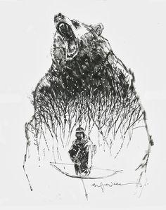 Dani Moonstar and the Demon Bear by Bill Sienkiewicz