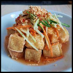 Thai Style Fried Beancurd Tofu Recipes, Spicy Recipes, Asian Recipes, Vegetarian Recipes, Cooking Recipes, Waffle Recipes, Chinese Recipes, Japanese Street Food, Thai Street Food