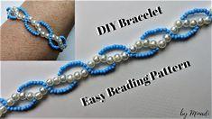 Beaded bracelet Easy beading tutorial Diy bracelet simple beading pattern - YouTube