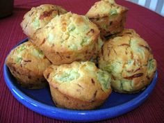 GREEN TOMATO MUFFINS WITH CHEESE | The Southern Lady Cooks