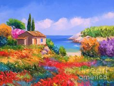 Little painting of a little house by the sea. See my other work on FAA.