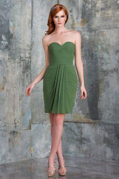 2015 Zipper Up Chiffon Sleeveless Sweetheart Knee Length Bridesmaid / Prom Dresses By bari jay 530