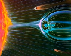 earths magnetic field in deflecting sun's radiation and heat