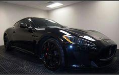 Gorgeous!...  Blacked out Maserati GranTurismo MC Stradale