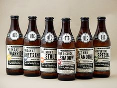 Off The Clock Brewing Company bottles designed by JJ Miller.