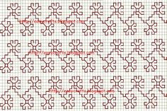 Easy Crafts - Explore your creativity: Kasuti embrodiery design - what about transferring a pencil grid to paper so you can make a design like this Kasuti embroidery design, and then erasing the pencil? Kasuti Embroidery, Hand Work Embroidery, Hand Embroidery Patterns, Cross Stitch Embroidery, Cross Stitch Bookmarks, Cross Stitch Borders, Cross Stitch Designs, Stitch Patterns, Blackwork Patterns