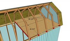 This step by step diy project is about how to build a gambrel roof shed. Building a roof for a barn shed with loft will add character to yoru project. Shed Plans 12x16, Diy Shed Plans, Cabin Plans, House Plans, Barn Style Shed, Plan Garage, Shed With Loft, Shed Base, Barns