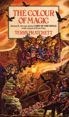 Josh Kirby's work propelled into the public domain with the release of Terry Pratchet's first Discworld book. The cover, which conveyed so much information and colour was just one of many that lured readers in to the fantastic Discworld. Sadly, the cover artist was changed later