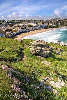 Porthmeor Beach from The Island. Cornwall, England. 19 of the best beaches in Europe: http://www.europealacarte.co.uk/blog/2011/03/28/best-beaches-europ/