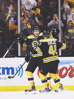 Johnny Boychuk and David Krejci, Boston Bruins