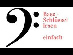Noten lernen - Bassschlüssel - auch mit Eselsbrücken - YouTube