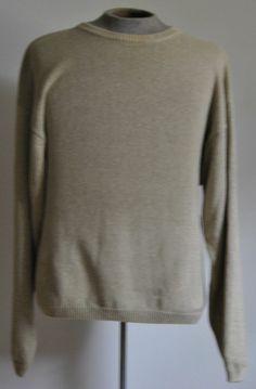 Men's Sz XX-Large Big Gant Sweater Beige 100% Cotton Long Sleeve