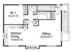 Garage Apartment Floor Plans | Timothy Open Garage Apartment Plan 058D-0148 | House Plans and More