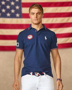 Team USA Custom-Fit Mesh Polo - Polo Ralph Lauren Custom Fit - RalphLauren.com