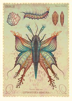Australia-based illustrator Vladimir Stankovichas created several series of GIFs depicting his fantastical portrayal of the natural world