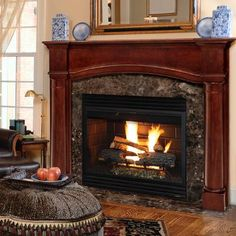 Frame your hearth in elegance with the Pearl Mantels Princeton Wood Fireplace Mantel Surround in Cherry Distressed Finish. The Princeton is a stunning display for your treasures. Decor, Home, Fireplace Surrounds, Fireplace Accessories, Wood Fireplace, Fireplace Mantel Shelf, Fireplace Shelves, Fireplace Mantel Surrounds, Fireplace