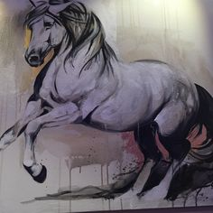 Elise Genest' Hilandero mixed media on canvas Paintings of horses have been in existence for centuries. Having visited southwestern France with their famous prehistoric paintings of horses in Lascaux Caves, I can attest to mankind's fascination with the four-legged animal.