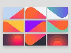 Musixmatch brand visual  blocks + patterns