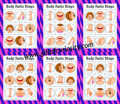 Free Body Parts Bingo Game. Perfect for helping toddlers and preschoolers learn body parts in a fun and playful way. Body Parts For Kids, Body Parts Preschool, Free Preschool, Alphabet Activities, Toddler Activities, Preschool Activities, Human Body Unit, Human Body Systems, Human Body Parts