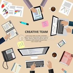 Creative team concept Graphics Modern flat design creative team concept for e-business, web sites, mobile applications, banners, co by L_amica Web Design Icon, Flat Design Icons, Free Design, Design Ideas, Graphic Design, Creative Icon, Creative Sketches, Ui Elements, Free Graphics