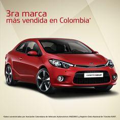 Cerca a los colombianos, sorprendiéndolos en cada viaje. #Kia la 3ra marca más vendida en Colombia.