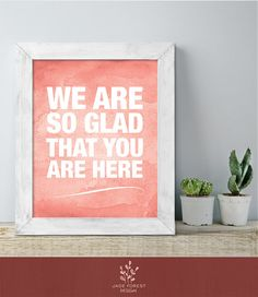 ♥ CLICK NOW TO SAVE 10% (Coupon code: PIN10) ▷ Guest Thank You Poster // Bold Coral by JadeForestDesign on Etsy