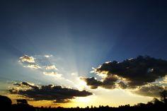 Por do Sol no Parque do Sabiá, Uberlândia - MG