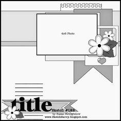 1 photo 1 page scrapbook layout sketch savvy Scrapbook Layout Sketches, Scrapbook Templates, Card Sketches, Scrapbooking Layouts, Baby Scrapbook, Scrapbook Albums, Scrapbook Cards, Disney Scrapbook, Shabby