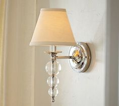 Stacked Crystal Sconce #potterybarn