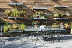 Patio Furniture and flower arrangements - From a home store in Westport, Connecticut | #Outdoors #Furniture #Patio #Garden |