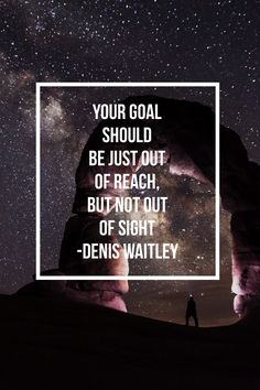 Your goal should be just out of reach, but not out of sight ~Denis Waitley Get a copy of my free goal setting guide today.