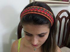 Faixa de cabelo em Crochet