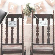 decoration de salle pancartes Mr&Mrs
