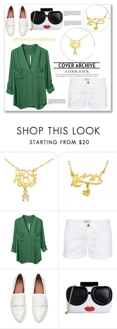 """Monogram & More 10/I"" by amra-mak ❤ liked on Polyvore featuring Current/Elliott, Alice + Olivia and monogram"