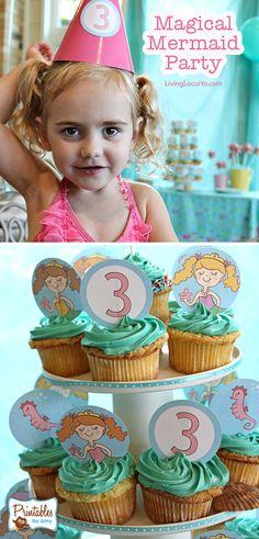 Cute Mermaid Birthday Party Ideas by Amy Locurto LivingLocurto.com