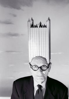 """Philip Johnson, an influential American architect. """"In 1930, he founded the Department of Architecture and Design at the Museum of Modern Art in New York City, and later (1978), as a trustee, he was awarded an American Institute of Architects Gold Medal and the first Pritzker Architecture Prize,[2] in 1979. He was a student at the Harvard Graduate School of Design."""" (quote via Wikipedia)"""