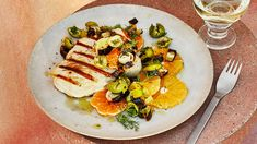 Grilled Swordfish with Charred Leeks and Citrus