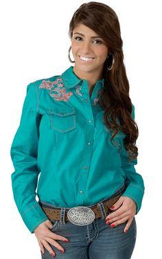 Ariat® Women's Bluebird Baja with Embroidery Long Sleeve Western Shirt