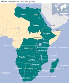Map: Afrrica's TFTA zone