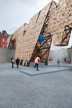 MoMA PS1 Party wall by CODA built for Warm Up summer series!