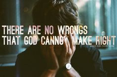 Jesus-our-everything: So you've been hurt or maybe you hurt someone else. God can fix it. God may be nudging you this very moment to ask for forgiveness or be willing to forgive. Trust God, listen and act. There is no wrong that God cannot make right. Scripture Quotes, Words Quotes, Bible Verses, Scriptures, Sayings, Fix It Jesus, Jesus Is Lord, Love And Forgiveness, Asking For Forgiveness