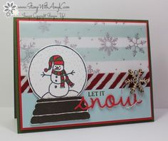 Stampin up 'Sparkly Seasons with 'Seasonal Frame' Thinlits - Stamp With Amy K