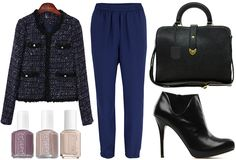 ANNAWII ♥ - CASUAL CHIC IN TWEED AND NAVY