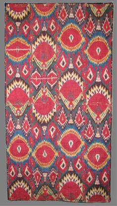 Central Asian Ikat Hanging, Textiles, Anahita Gallery HALI.com