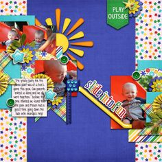 Digital Scrapbook Page by Britt | Children at Play by Bella Gypsy