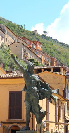 Statue of Cicero in his birthplace of Arpino. Ciociaria, Italy