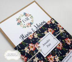 Convite Rústico Floral - Convite de casamento rústico, convite de casamento floral Más