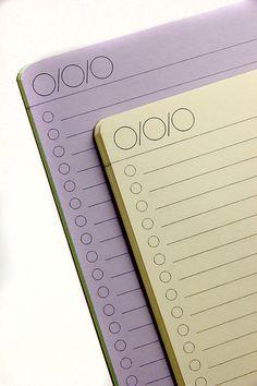 BULLET Journal (One Column)  Traveler's Notebook Insert   23 Colors - 5 sizes