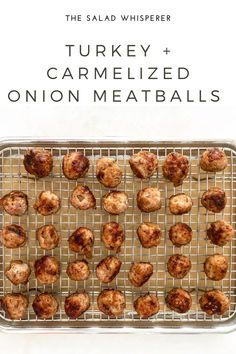 Easy recipe for delicious turkey meatballs with caramelized onion. So yummy! Quick And Easy Appetizers, Easy Appetizer Recipes, Healthy Recipes, Asian Soup, Turkey Meatballs, Mediterranean Recipes, Caramelized Onions, Original Recipe, Other Recipes
