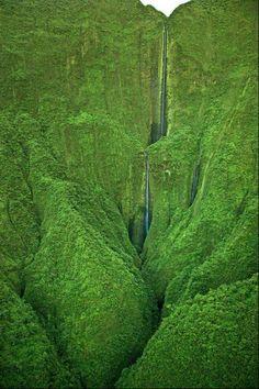 Oloupena Waterfall, Molokai, Hawaii